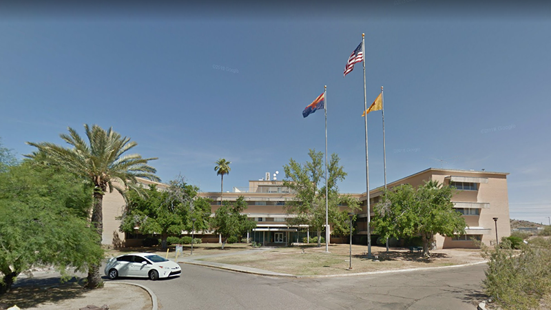 Street view of ASU's Community Service Building